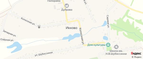 Лесная улица на карте села Икково с номерами домов