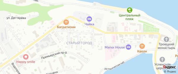 Улица 1-ый Якимовский овраг на карте Чебоксар с номерами домов