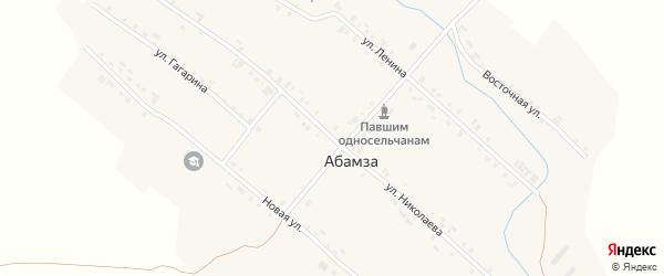 Улица Николаева на карте деревни Абамзы с номерами домов