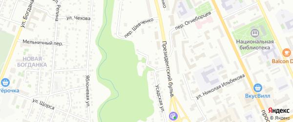 2-я Усадская улица на карте Чебоксар с номерами домов