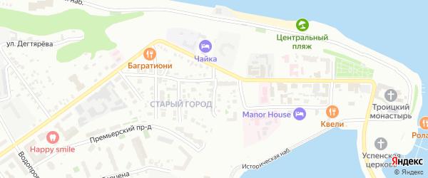 Овражная улица на карте Чебоксар с номерами домов