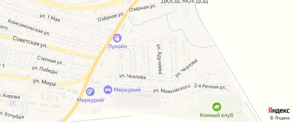Интернациональная улица на карте поселка Лимана с номерами домов
