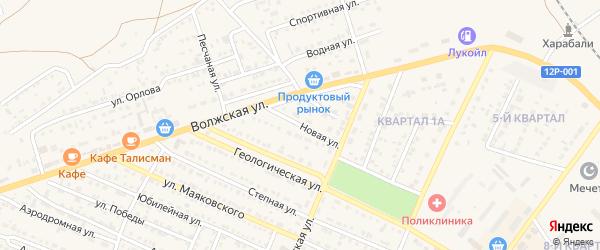 Новая улица на карте Харабали с номерами домов
