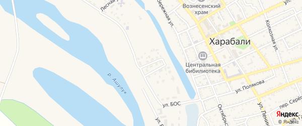 Улица Красных Зорь на карте Харабали с номерами домов