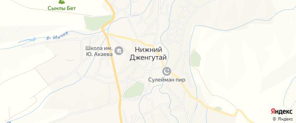 Карта села Нижнего Дженгутая в Дагестане с улицами и номерами домов