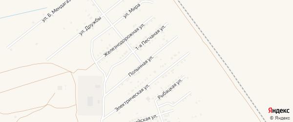 Полынная улица на карте Харабали с номерами домов