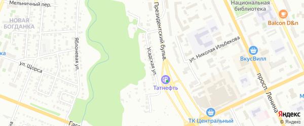 Усадская улица на карте Чебоксар с номерами домов