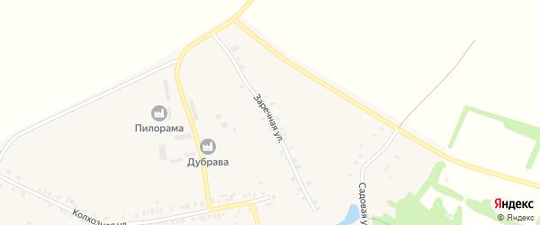 Заречная улица на карте села Икково с номерами домов