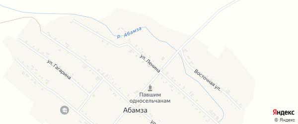 Улица Ленина на карте деревни Абамзы с номерами домов