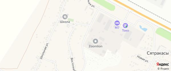 Восточная улица на карте деревни Сятракасы (Лапсарского с/п) с номерами домов