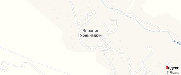 Улица Агул на карте села Верхнего Убекимахи с номерами домов