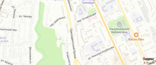 Улица Шевченко на карте Чебоксар с номерами домов
