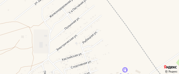 Рыбацкая улица на карте Харабали с номерами домов