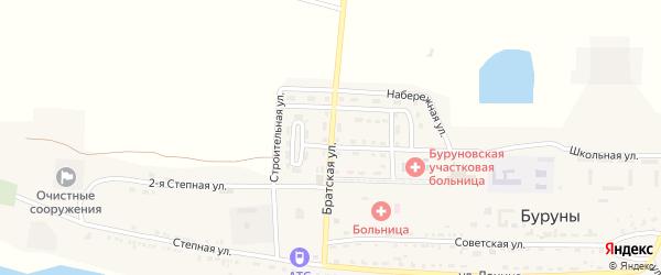 Братская улица на карте поселка Буруны с номерами домов
