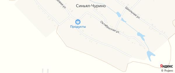Садовая улица на карте деревни Синьял-Чурино с номерами домов