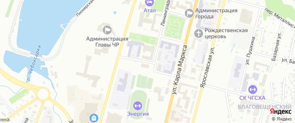 Кооперативная улица на карте Чебоксар с номерами домов