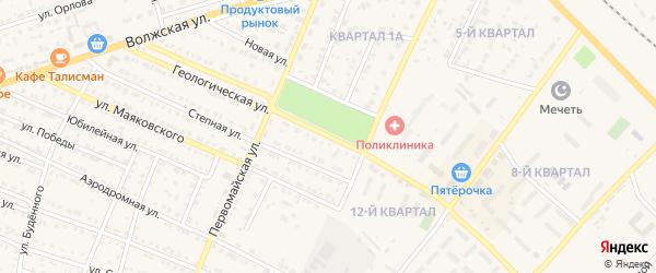 Геологическая улица на карте Харабали с номерами домов