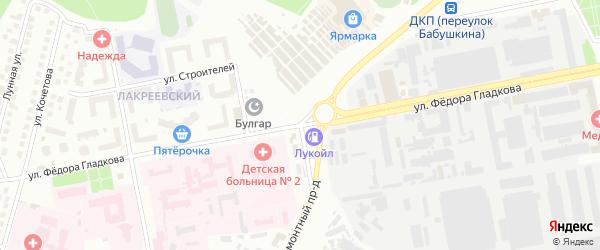 Улица Федора Гладкова на карте Чебоксар с номерами домов