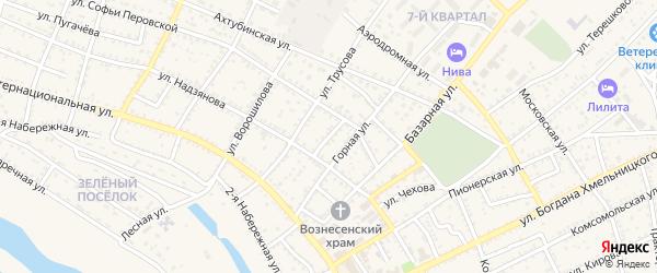 Степной переулок на карте Харабали с номерами домов