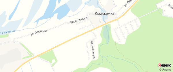 Карта садового некоммерческого товарищества Садоводы Севера города Коряжмы в Архангельской области с улицами и номерами домов