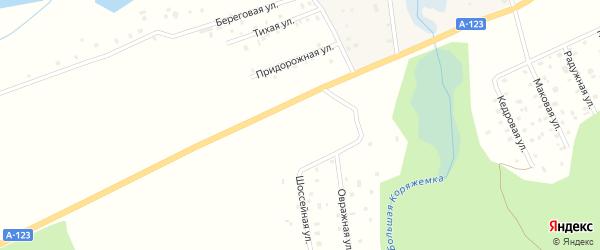 Хуторская улица на карте садового некоммерческого товарищества Садоводы Севера сад N6 Колос N1 с номерами домов