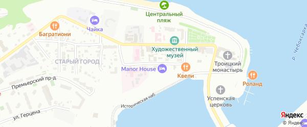 Улица Михаила Сеспеля на карте Чебоксар с номерами домов