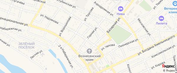 Горная улица на карте Харабали с номерами домов