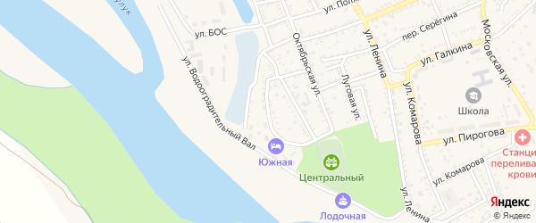 3-я Набережная улица на карте Харабали с номерами домов