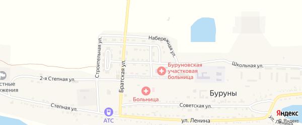 Мелиоративная улица на карте поселка Буруны с номерами домов