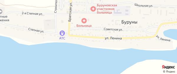 Улица им Ленина на карте поселка Буруны с номерами домов