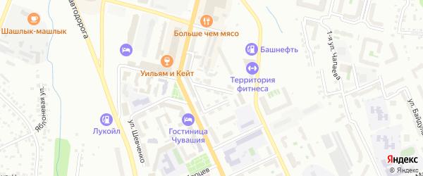 Электрозаводская улица на карте Чебоксар с номерами домов