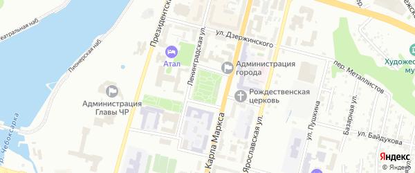 Площадь Республики на карте Чебоксар с номерами домов