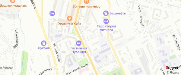 Харьковская улица на карте Чебоксар с номерами домов