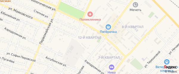 12-й квартал на карте Харабали с номерами домов