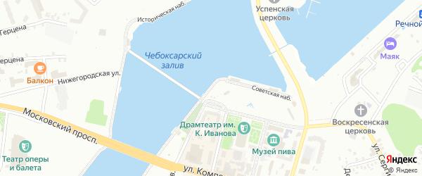 Советская набережная на карте Чебоксар с номерами домов