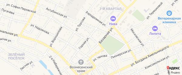 Восточная улица на карте Харабали с номерами домов