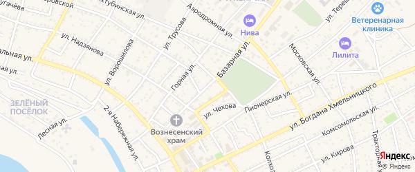 Базарная улица на карте Харабали с номерами домов