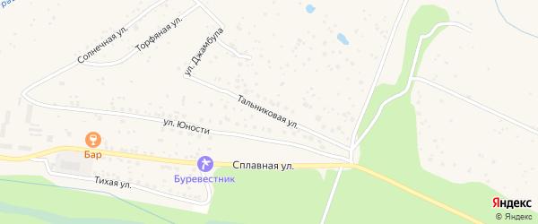 Тальниковая улица на карте поселка Сосновки с номерами домов