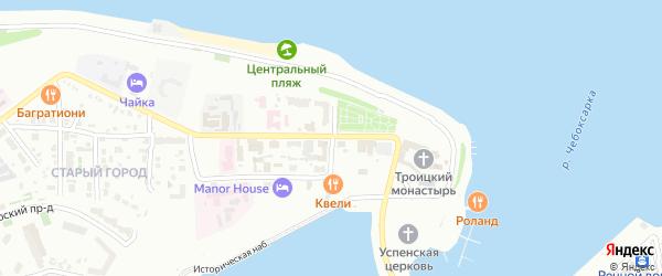 Улица Бондарева на карте Чебоксар с номерами домов