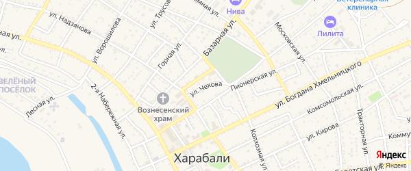 Улица Чехова на карте Харабали с номерами домов