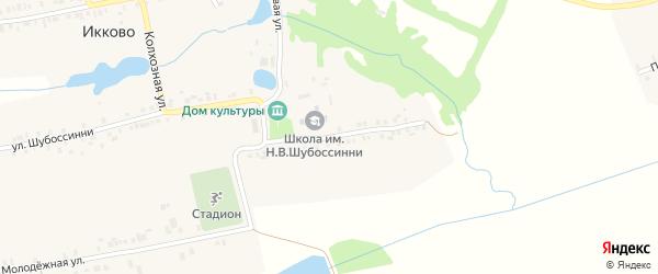 Школьная улица на карте села Икково с номерами домов