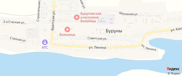 Советская улица на карте поселка Буруны с номерами домов