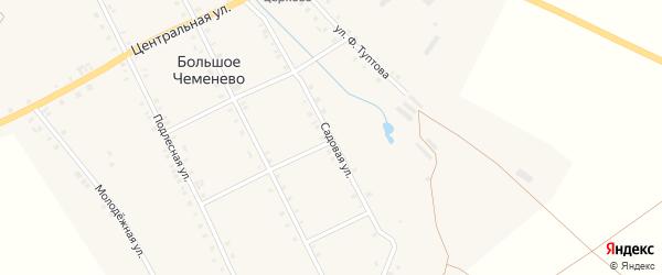 Садовая улица на карте села Большое Чеменево с номерами домов