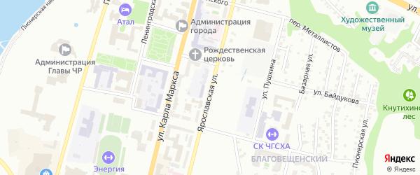 Ярославская улица на карте Чебоксар с номерами домов