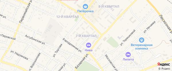 7-й квартал на карте Харабали с номерами домов