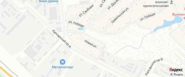 Новая улица на карте деревни Вурманкасы (Лапсарского с/п) с номерами домов