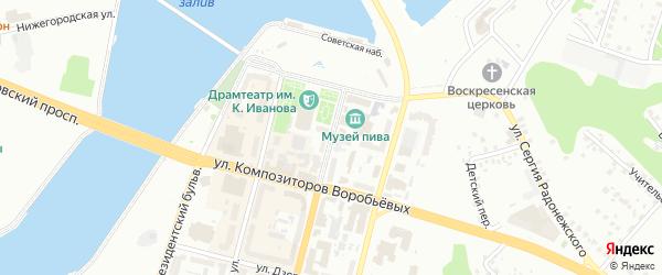 Бульвар Купца Ефремова на карте Чебоксар с номерами домов