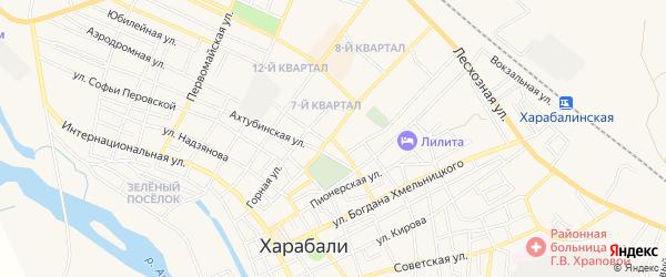 СТ СОТ Заготовитель на карте Харабали с номерами домов