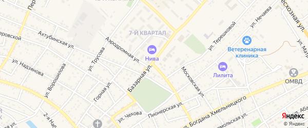 Московский переулок на карте Харабали с номерами домов