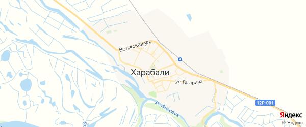 Карта Харабали с районами, улицами и номерами домов